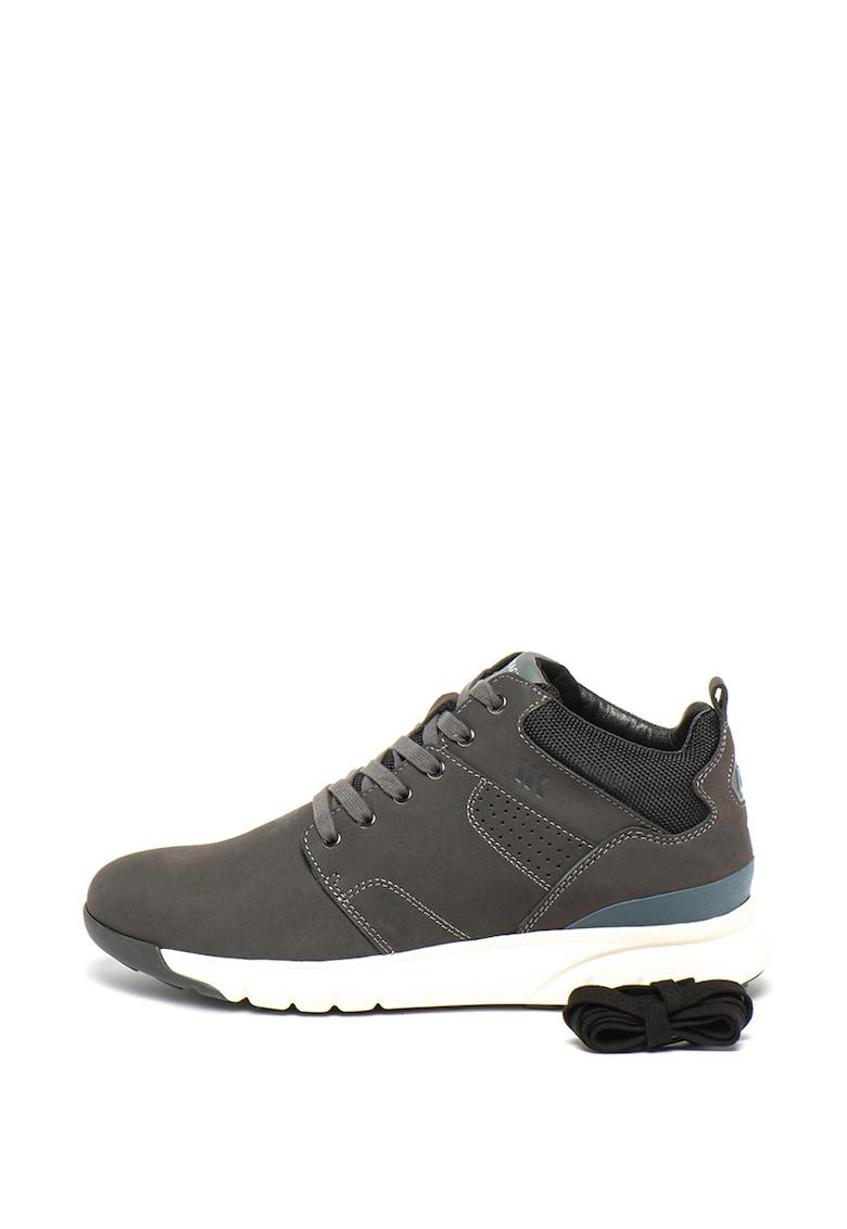 Pantofi sport din piele nabuc Frey