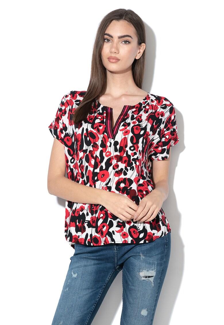 Bluza supradimensionata cu imprimeu floral