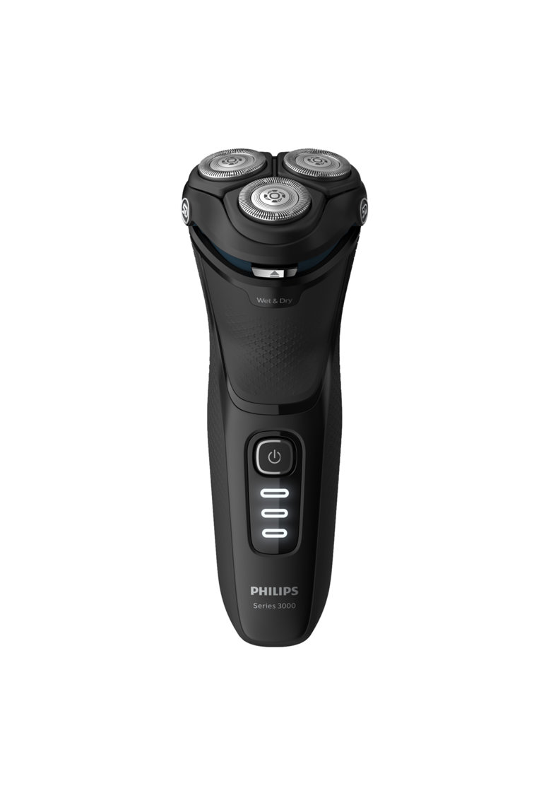 Philips Aparat de barbierit electric  Seria3000 /52 - Umed/uscat - Lame PowerCut B - capete 5D Flex - 60+ min autonomie / 1h incarcare - 3 LED - Cap tuns precizie - Baterie NiMH - Husa transport - Negru