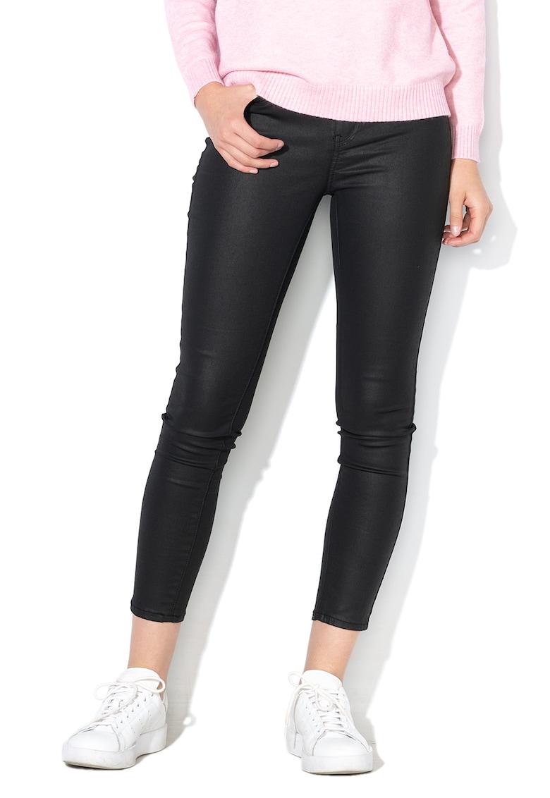 Pantaloni skinny cu aspect peliculizat Hush de la Only