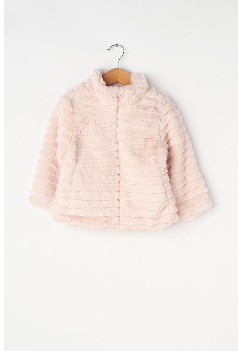 Jacheta din blana sintetica - cu aspect texturat