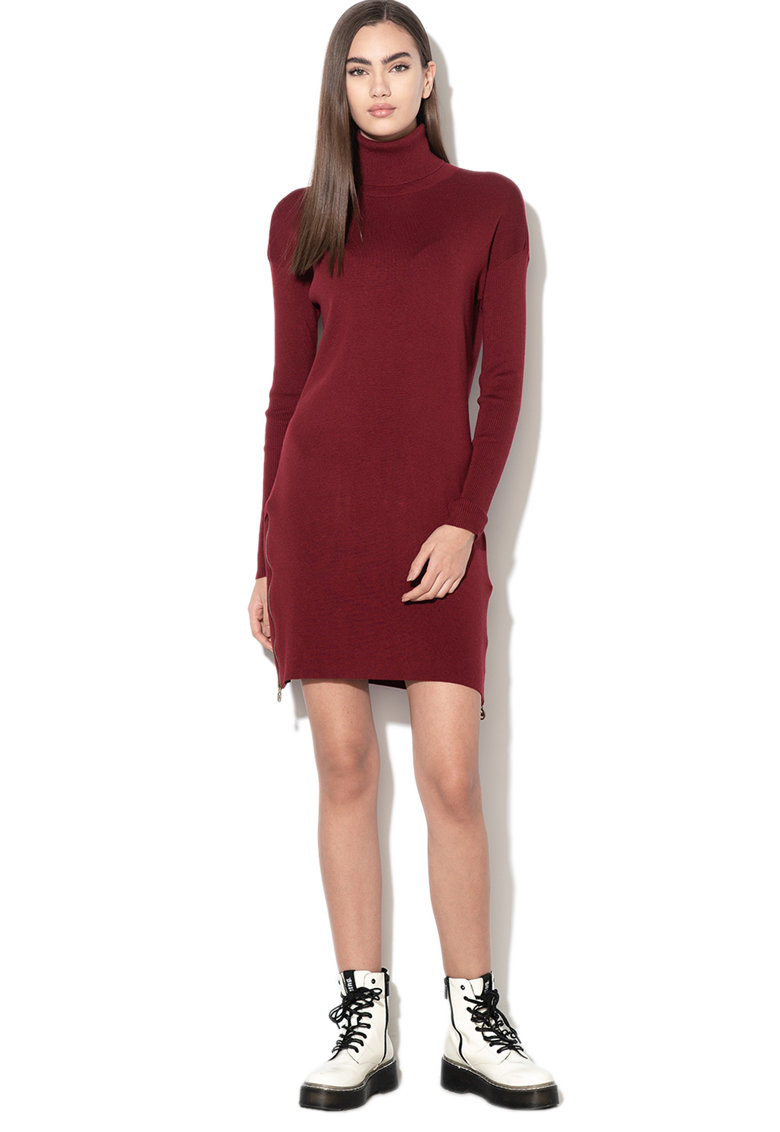 Rochie tip pulover din amestec de casmir