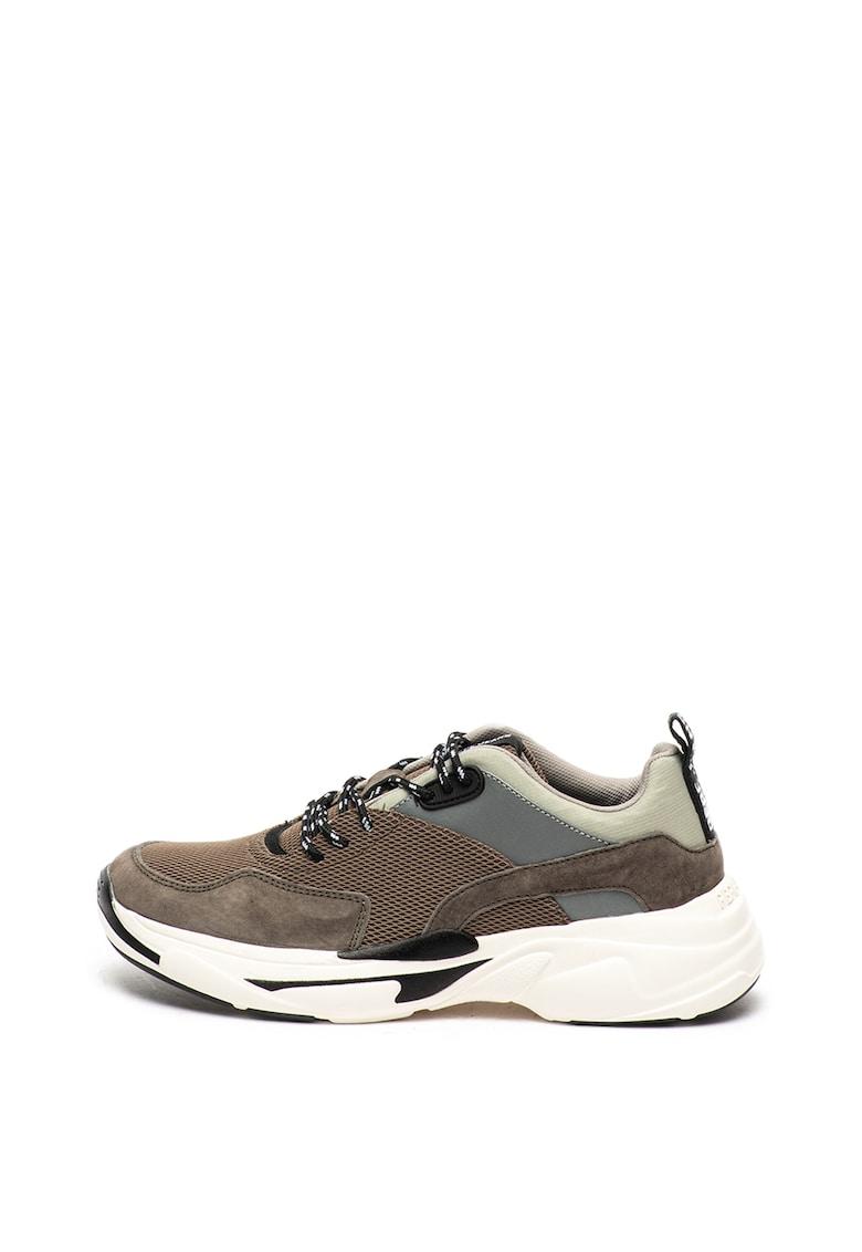 Pantofi sport de plasa - cu garnituri de piele intoarsa Sinyu