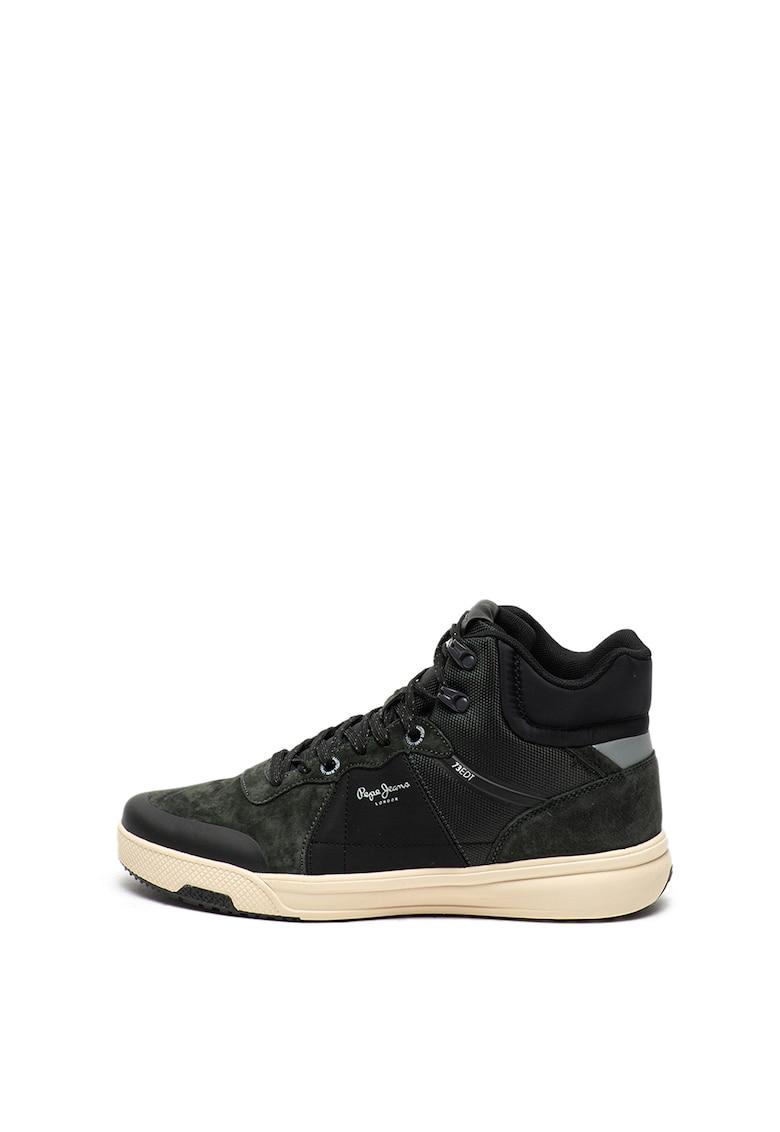 Pantofi sport mid-high cu garnituri de piele intoarsa Slate Pro