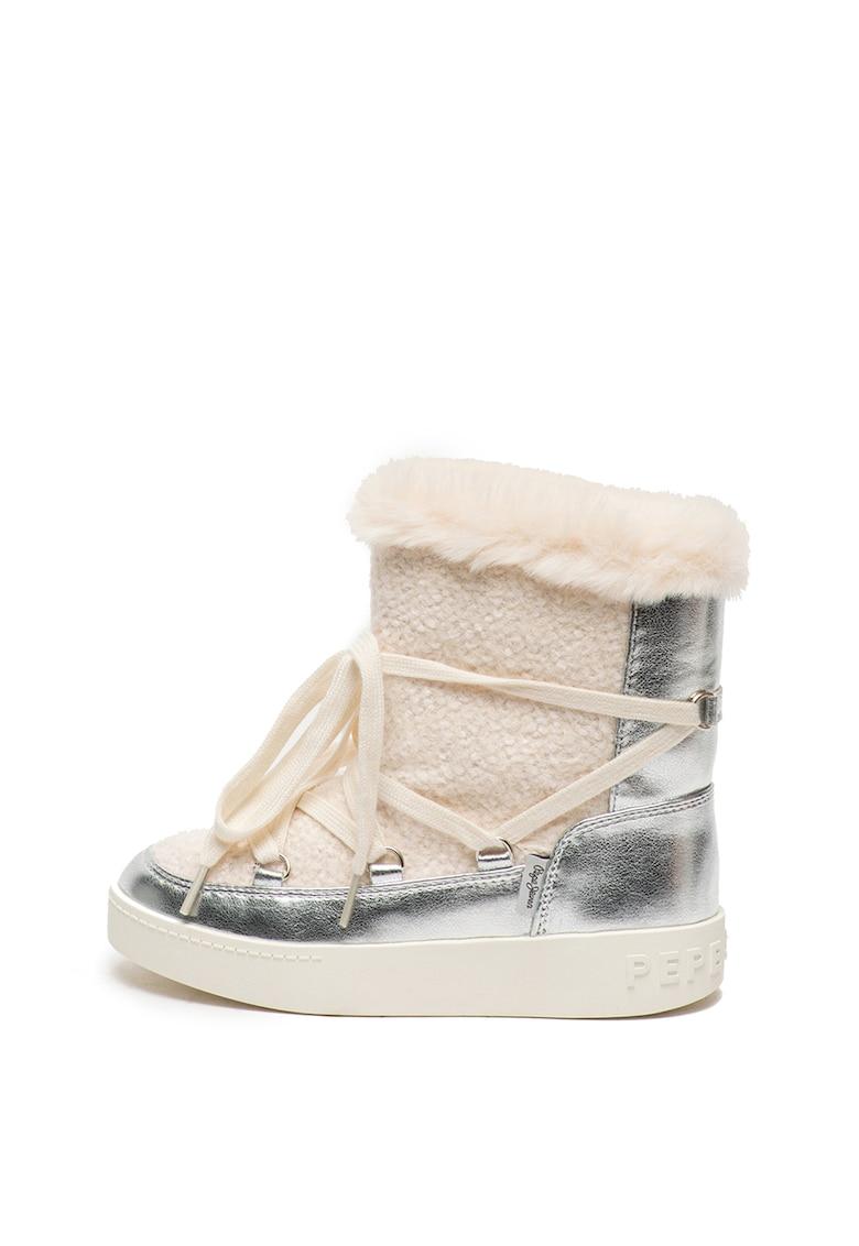 Cizme de iarna cu captuseala de blana sintetica Brixton de la Pepe Jeans London