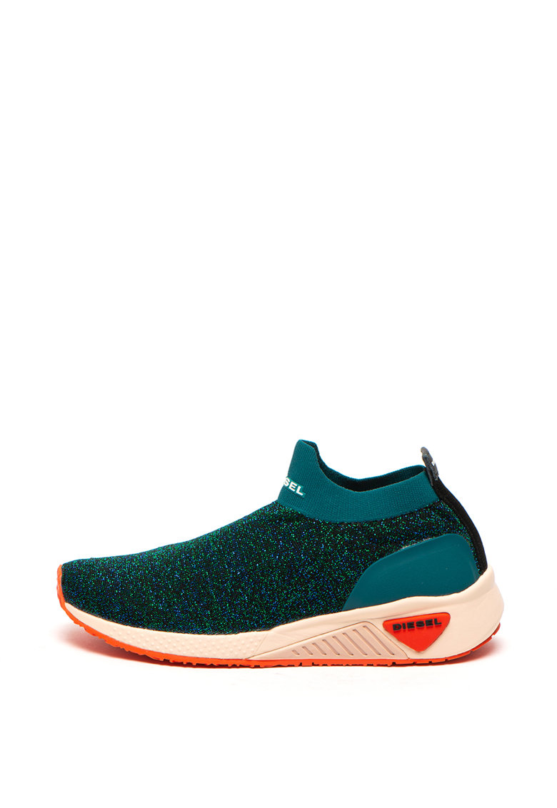 Pantofi sport slip-on cu insertii de lurex Kby