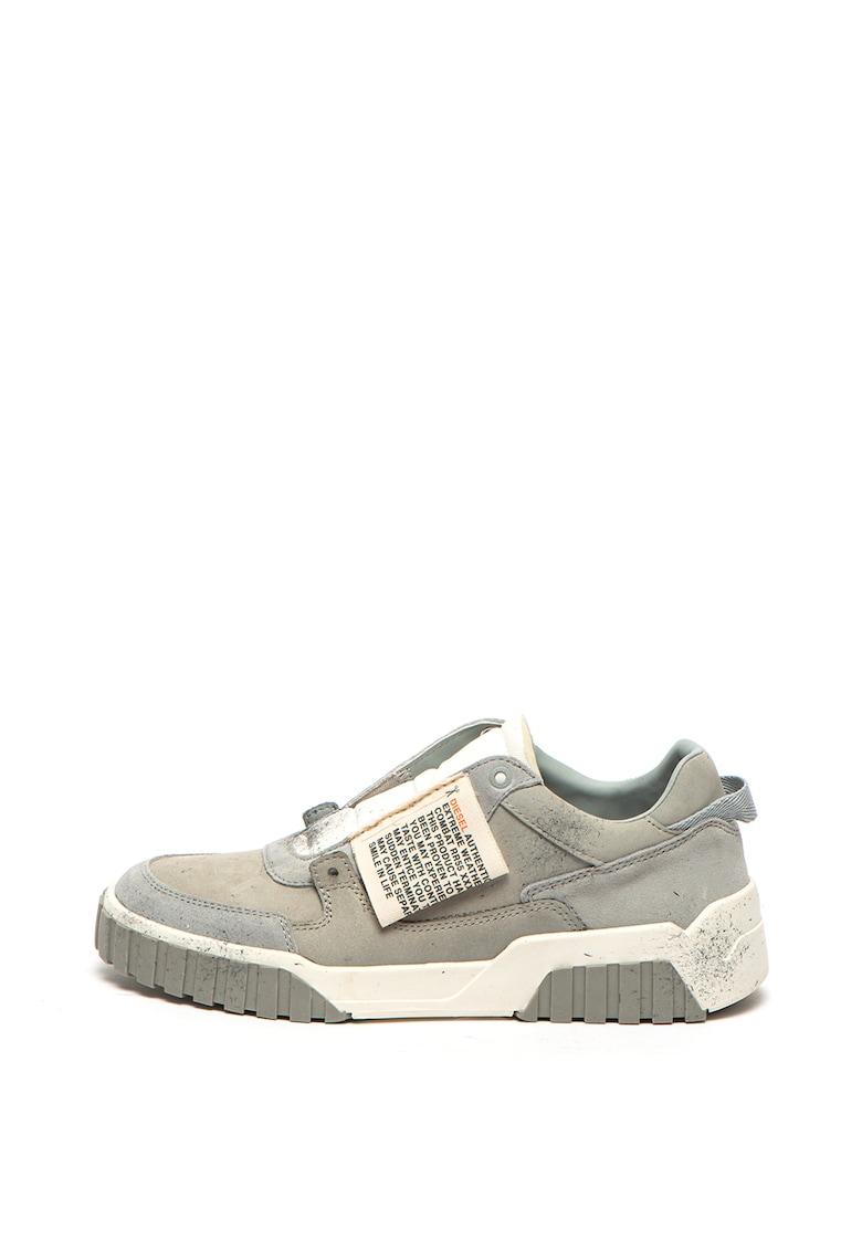 Pantofi sport slip-on cu insertii de piele intoarsa Le Rua