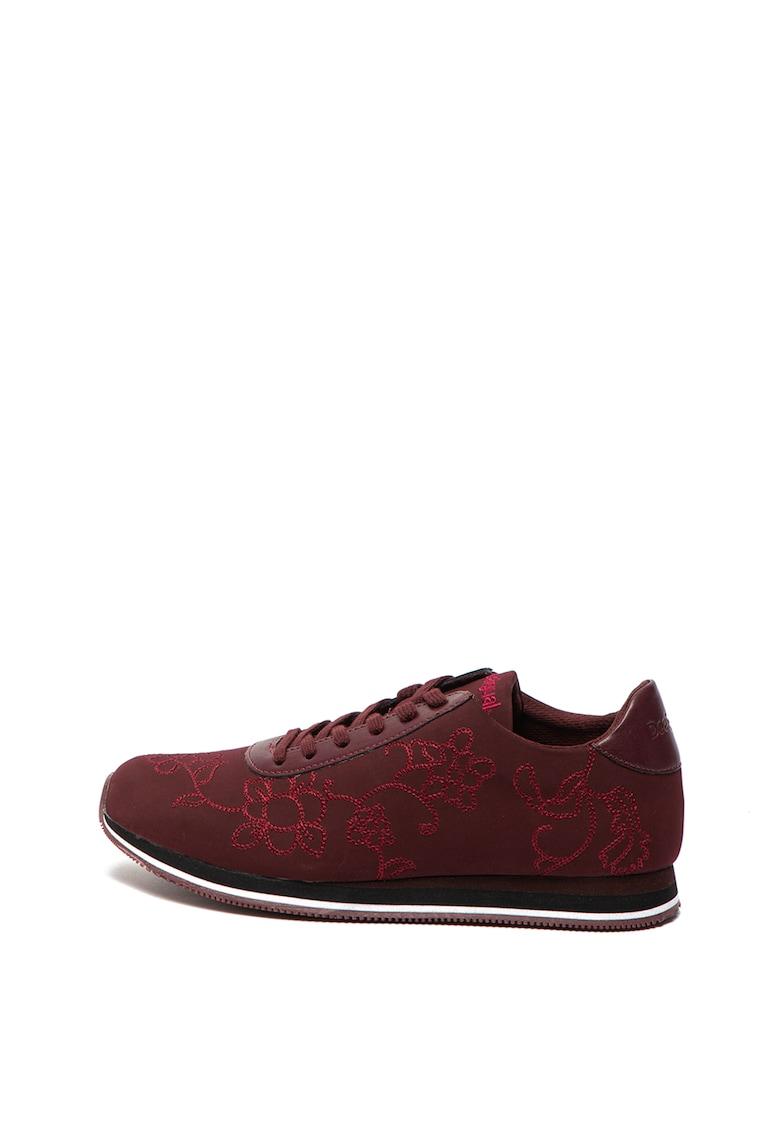 Pantofi sport cu broderie florala Pegaso
