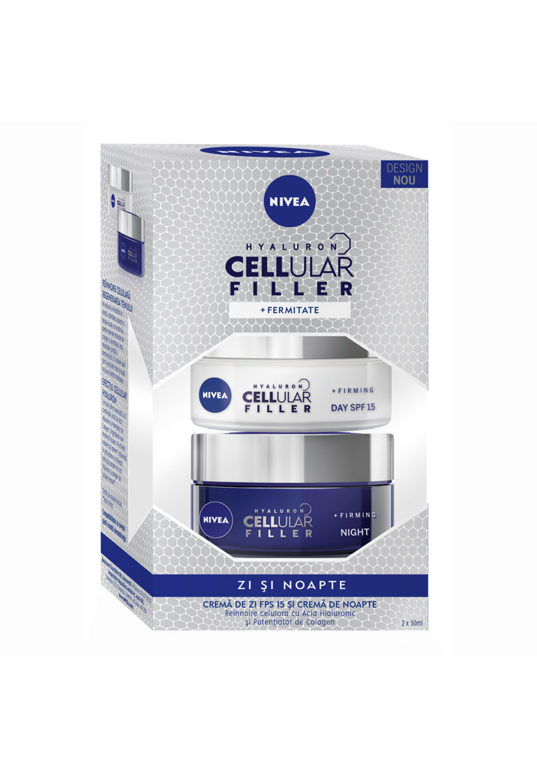 Pachet Hyaluron Cellular Filler: Crema de zi SPF 15 - 50 ml + Crema de noapte - 50 ml