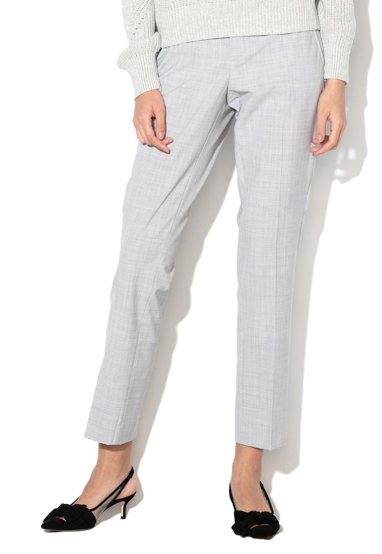 Pantaloni chino drepti din amestec de lana Ryan