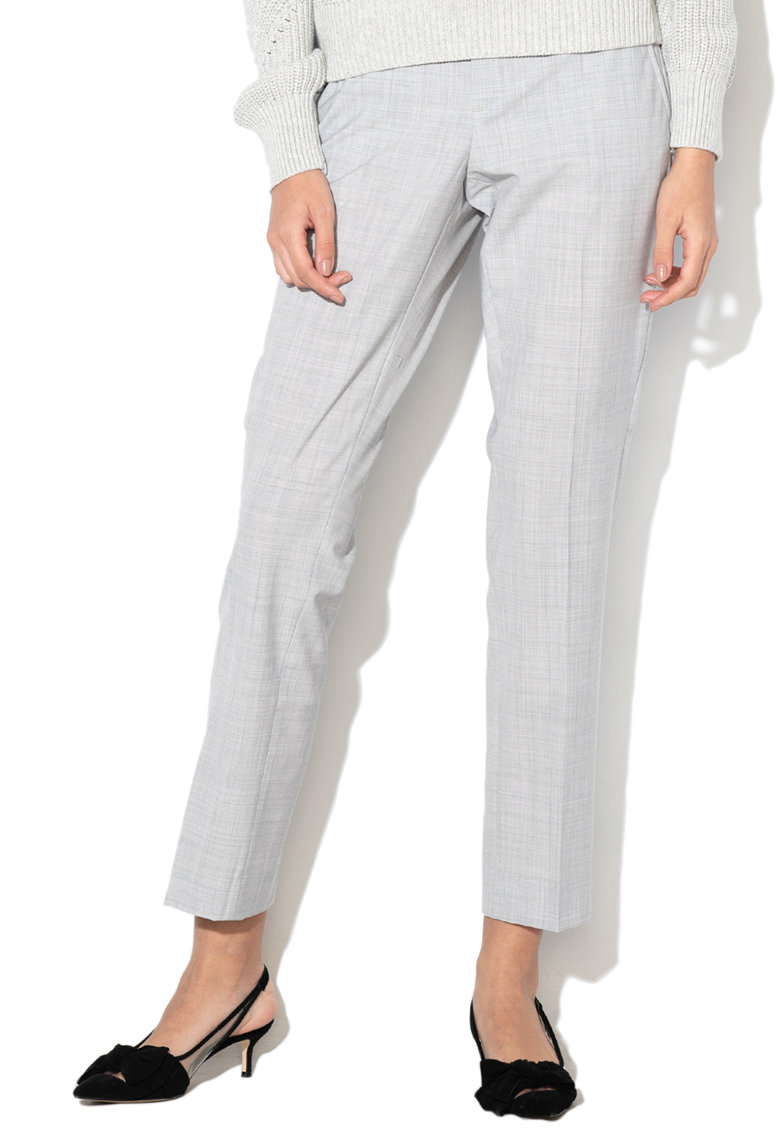 Pantaloni chino drepti din amestec de lana Ryan imagine