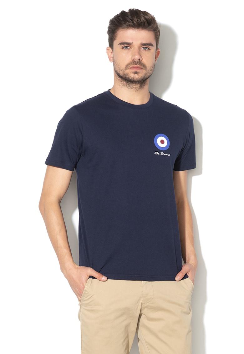 Tricou de bumbac cu imprimeu logo Ben Sherman