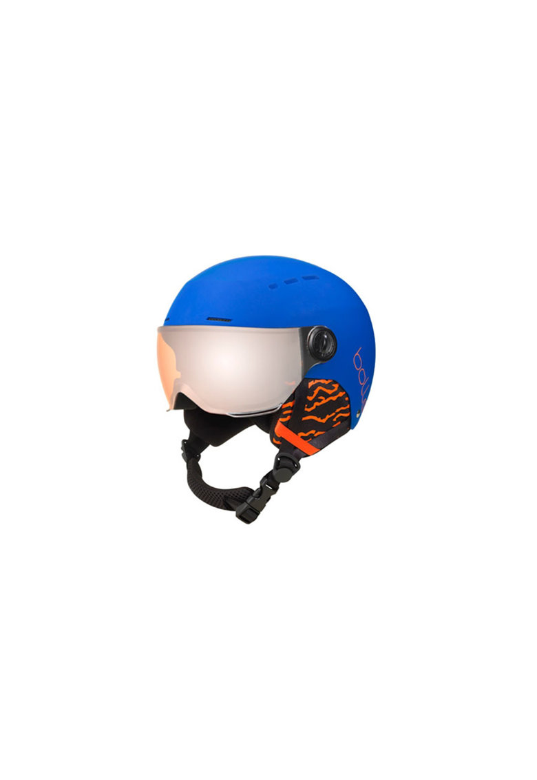 Casca ski Quiz Visor CAT.2 - Matte Blue/Orange - 49-52cm