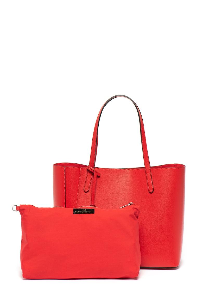 Geanta shopper de piele Saffiano Antonia Moretti fashiondays.ro