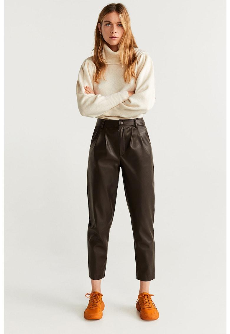 Pantaloni conici de piele ecologica Martina Mango