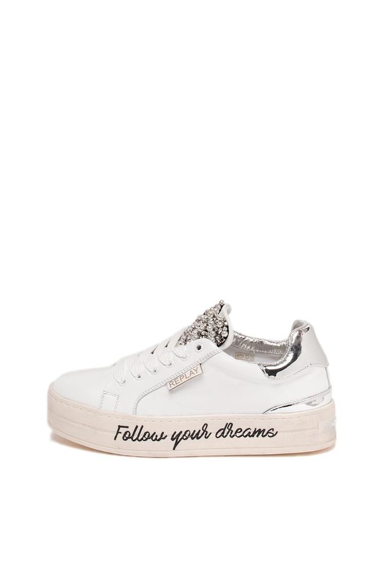 Pantofi sport flatform de piele Shields