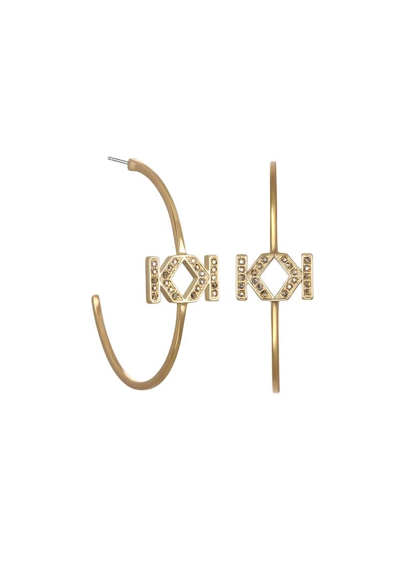 Karl Lagerfeld Cercei decorati cu cristale Swarovski
