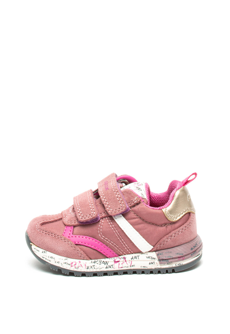 Pantofi sport cu garnituri de piele intoarsa Alben de la Geox