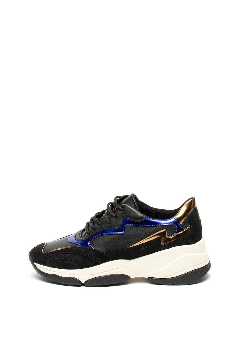 Pantofi sport cu garnituri din piele intoarsa Kirya