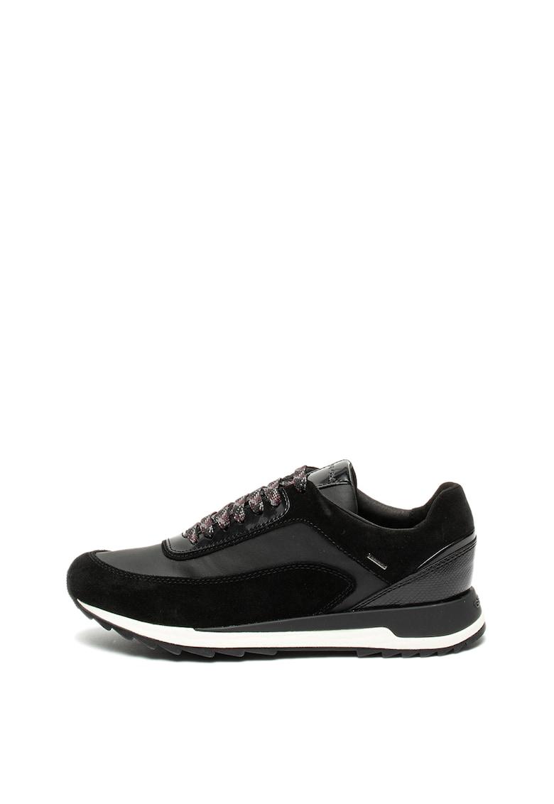 Pantofi sport cu insertii din piele intoarsa Aneko