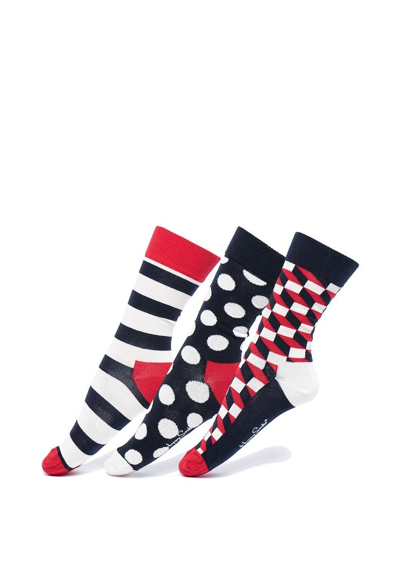 Set de sosete lungi unisex – 3 perechi Happy Socks