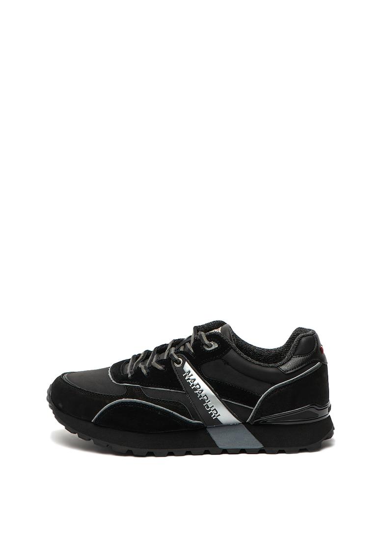 Pantofi sport cu insertii din piele intoarsa Frebut