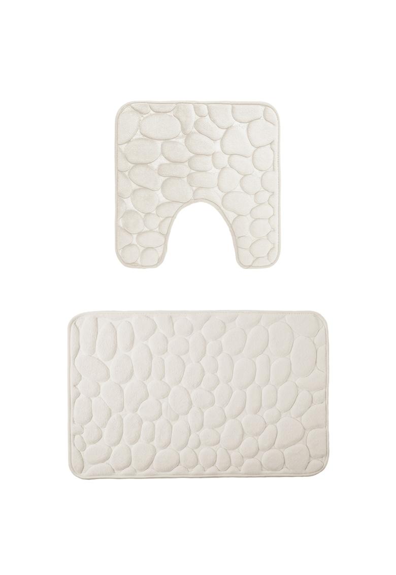 Set 2 covorase baie memory foam - 100% poliester - 50x80 cm si 50x48 cm imagine fashiondays.ro 2021