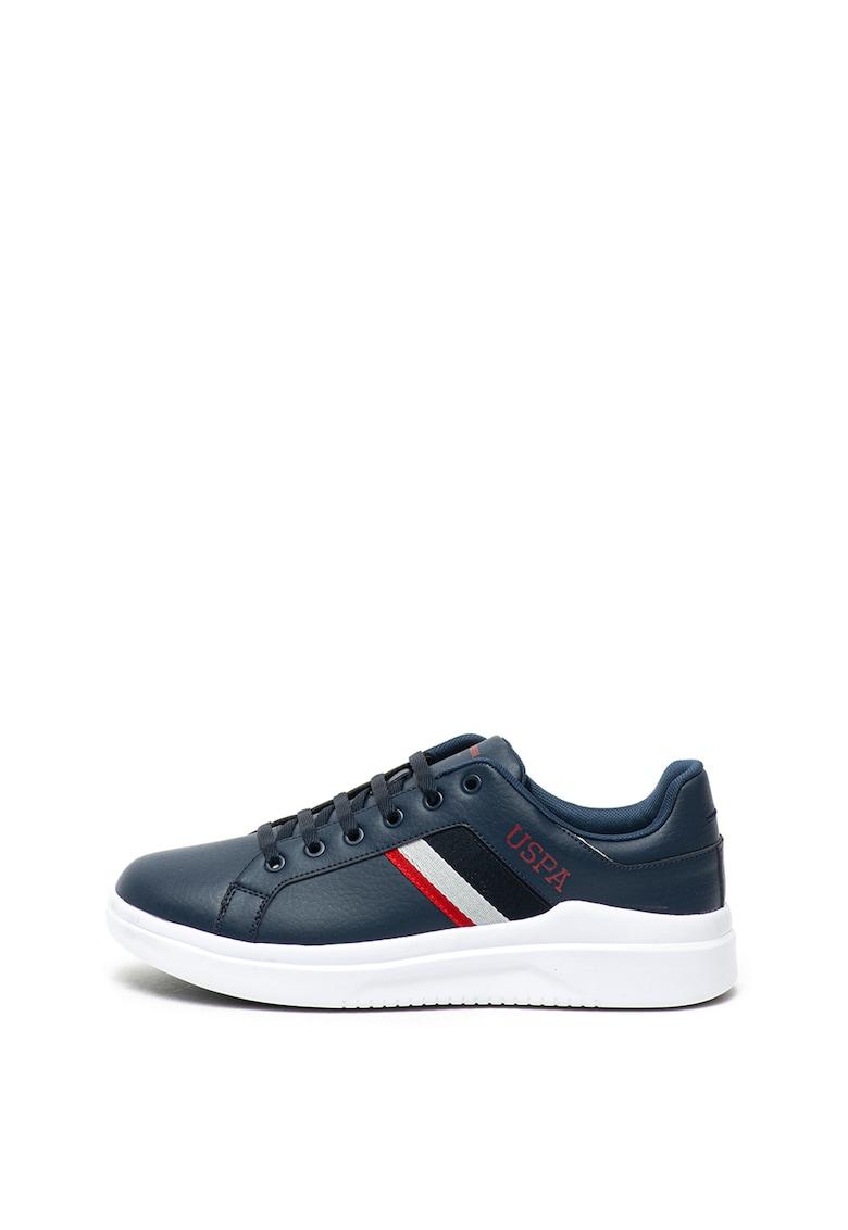 Pantofi sport de piele ecologica - cu detalii contrastante Camel poza fashiondays