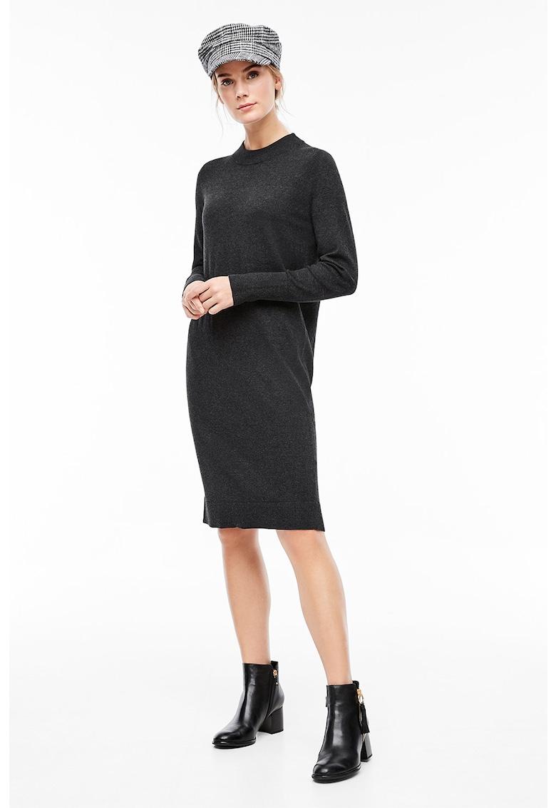 Rochie tip pulover din amestec de lana - cu croiala creion