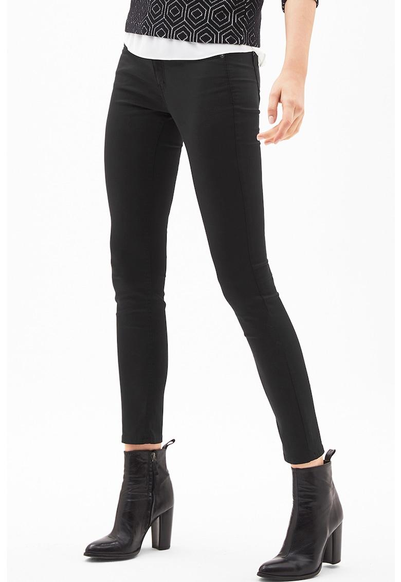 Pantaloni slim fit din amestec de lyocell Sienna