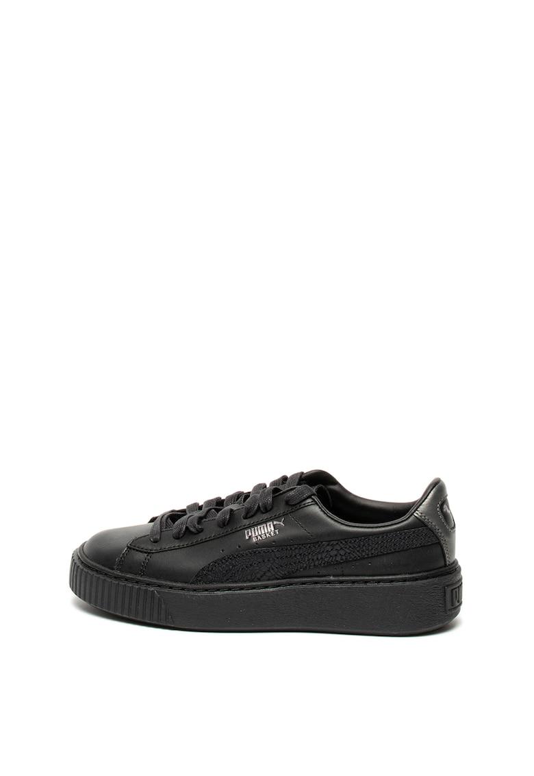 Pantofi sport de piele cu garnitura de piele intoarsa Euphoria