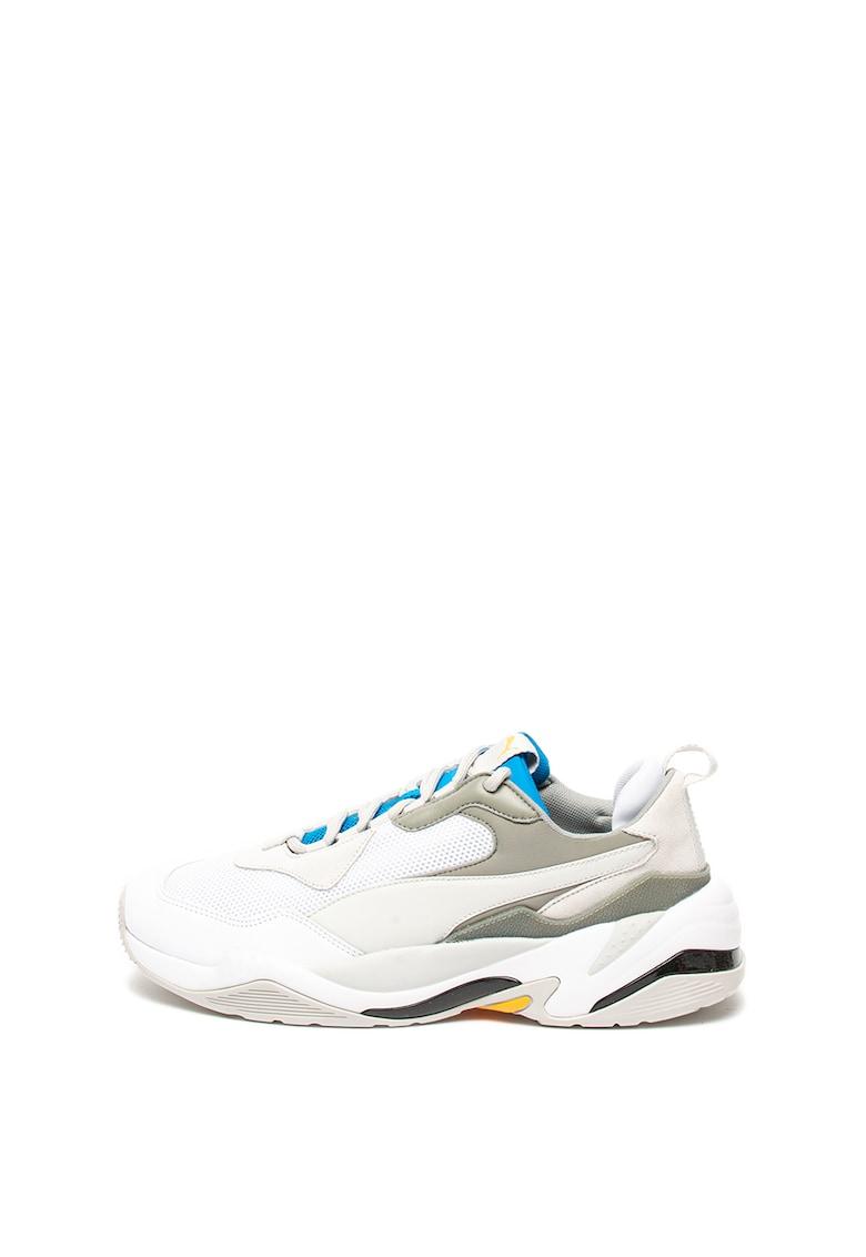 Pantofi sport din material textil si piele - cu talpa masiva Thunder Spectra