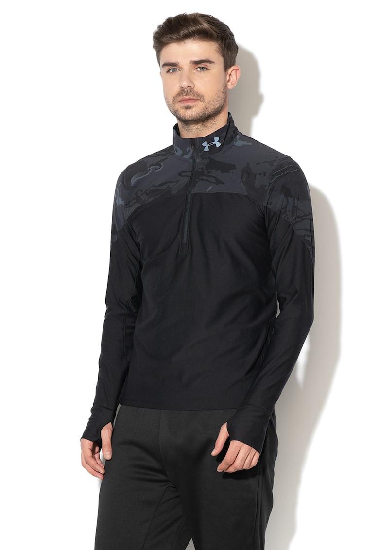 Bluza sport elastica - cu fermoar - pentru alergare Qualifier imagine
