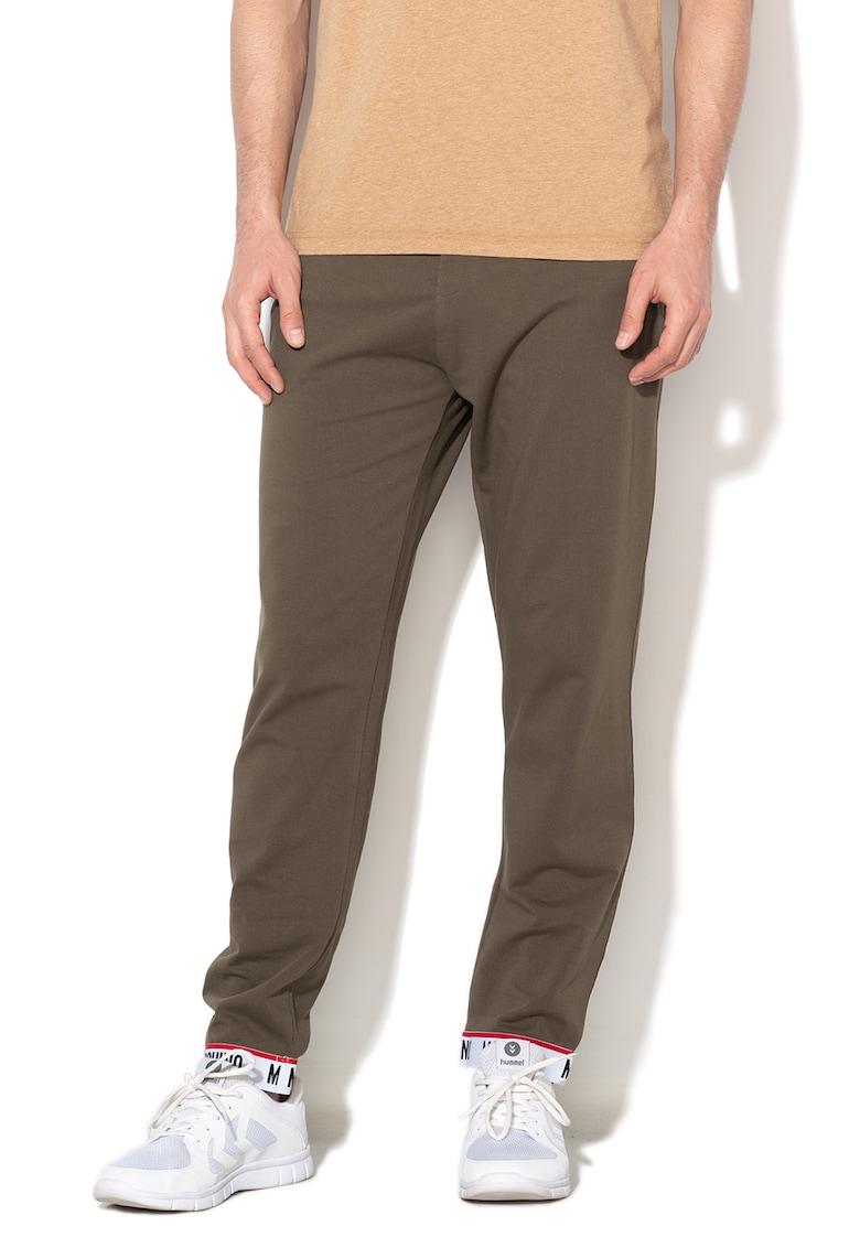Pantaloni de pijama cu banda logo elastica in talie