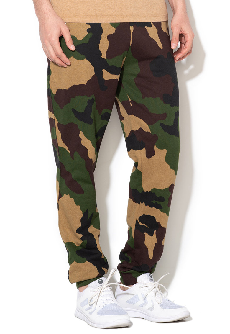 Pantaloni de pijama cu imprimeu camuflaj