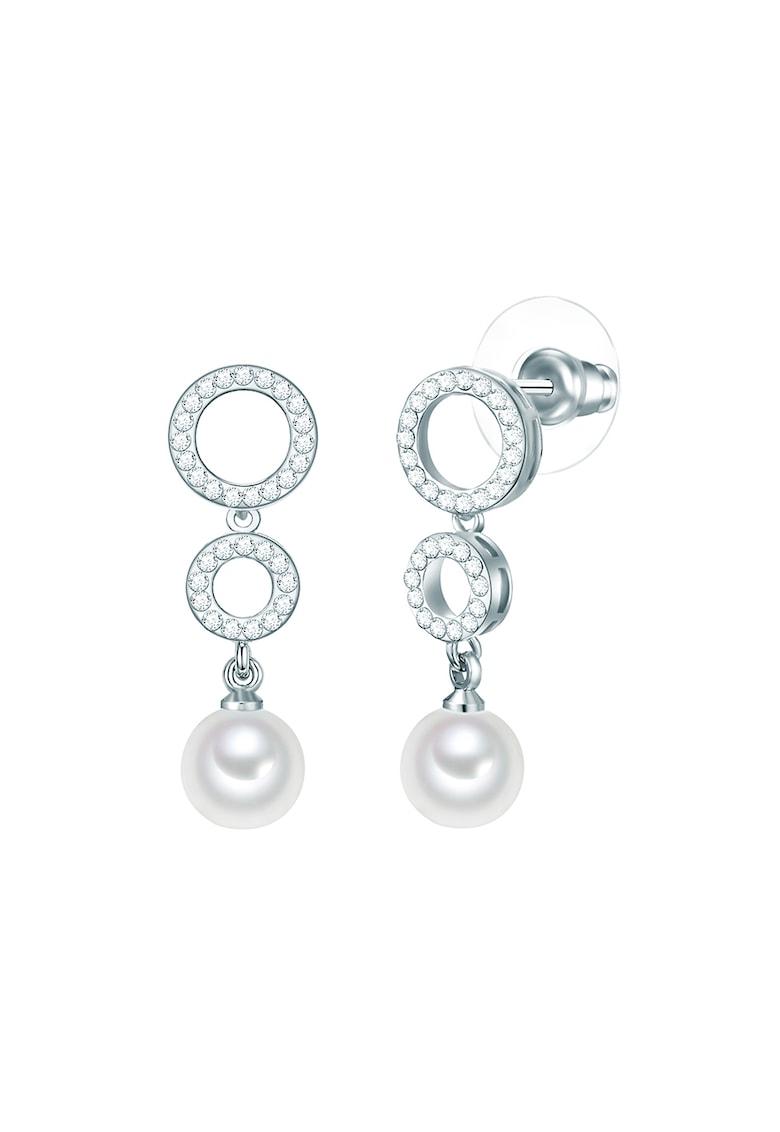 Cercei drop decorati cu perle organice imagine promotie