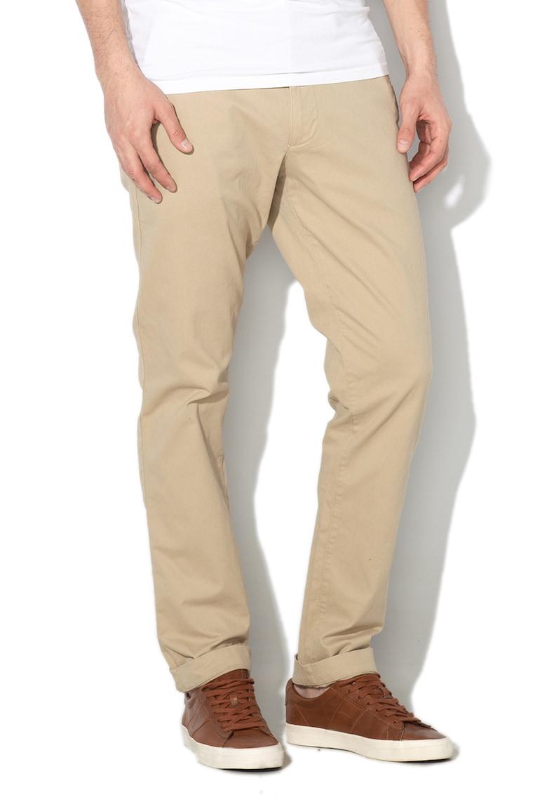 Pantaloni chino cu buzunare oblice imagine fashiondays.ro