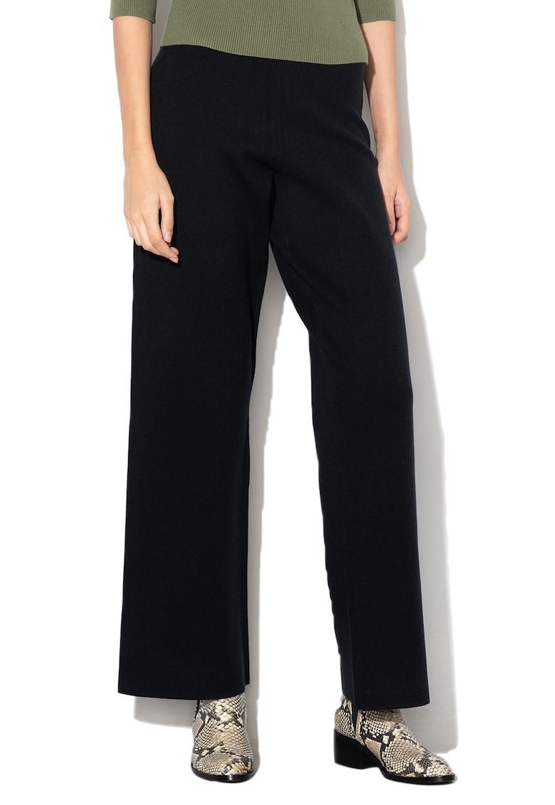 Pantaloni cu croiala ampla si talie inalta