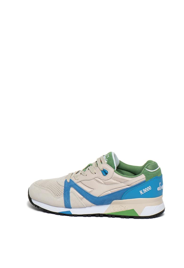 Pantofi sport unisex cu insertii din piele si piele intoarsa N9000 Double
