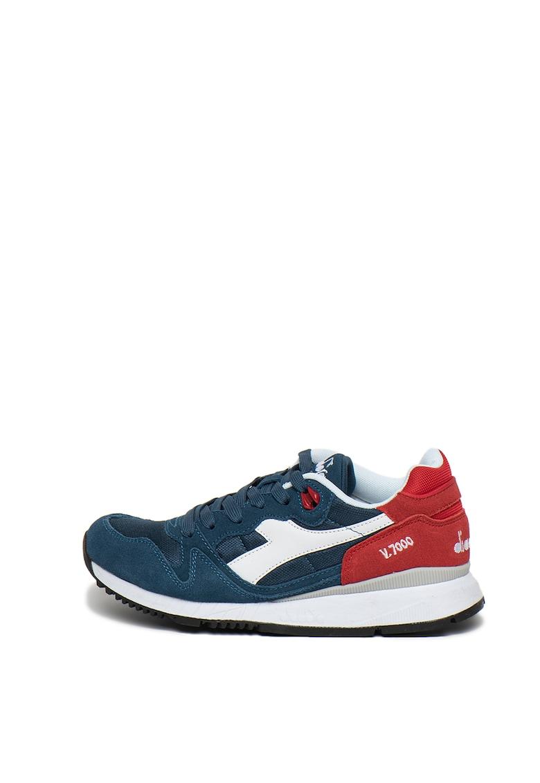Pantofi sport unisex cu insertii de piele intoarsa V7000
