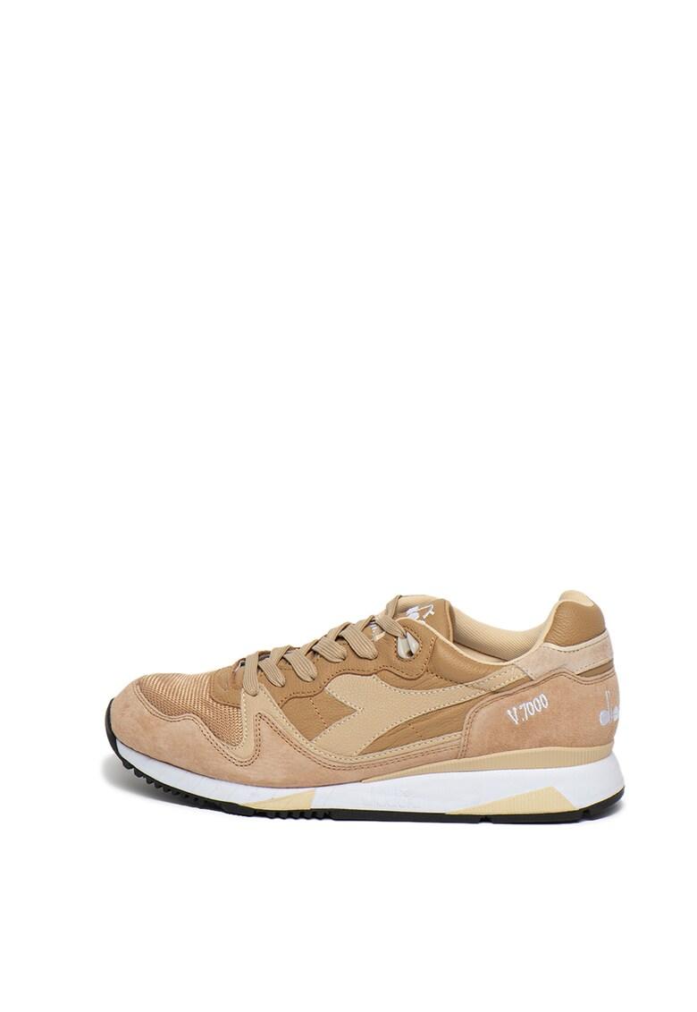 Pantofi sport din piele si piele intoarsa V7000 Italia