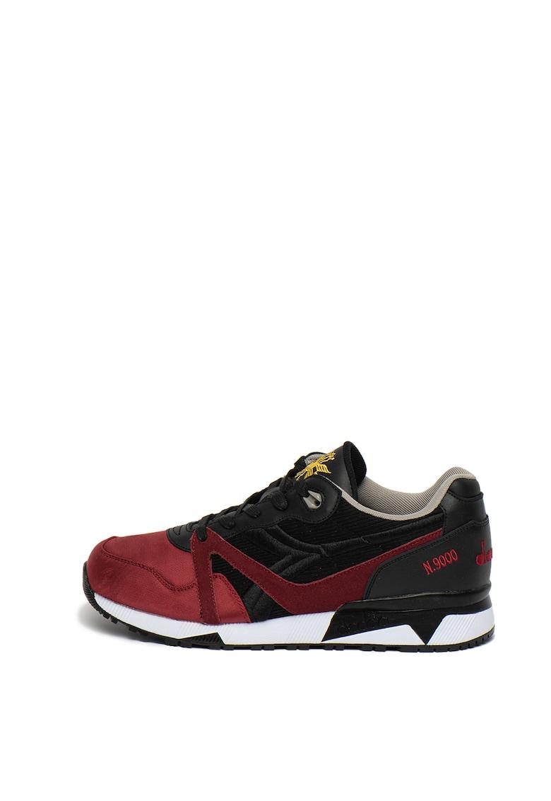 Pantofi sport cu garnituri din piele intoarsa si piele N9000