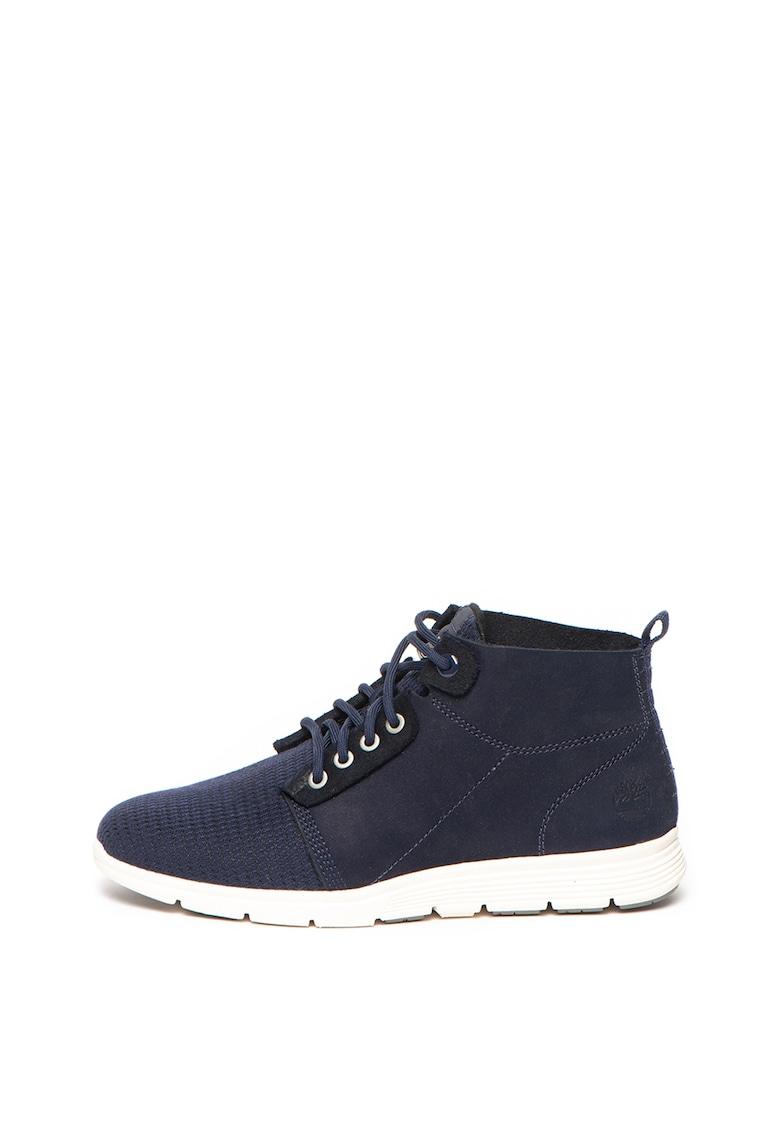 Pantofi sport din piele nabuc cu garnituri din material textil Killington