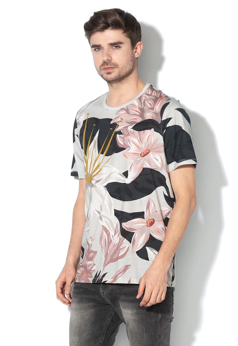 Tricou cu imprimeu floral Litwork
