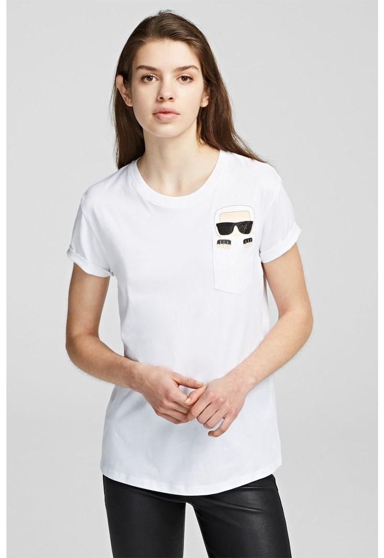 Tricou cu buzunar pe piept Ikonik de la Karl Lagerfeld