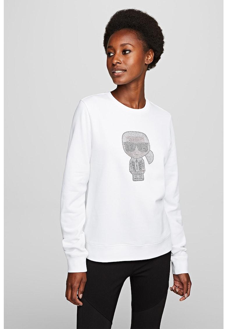 Bluza sport cu aplicatie logo din strasuri imagine fashiondays.ro