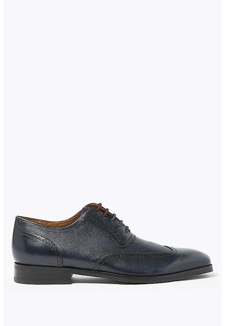 Pantofi Oxford brogue de piele imagine