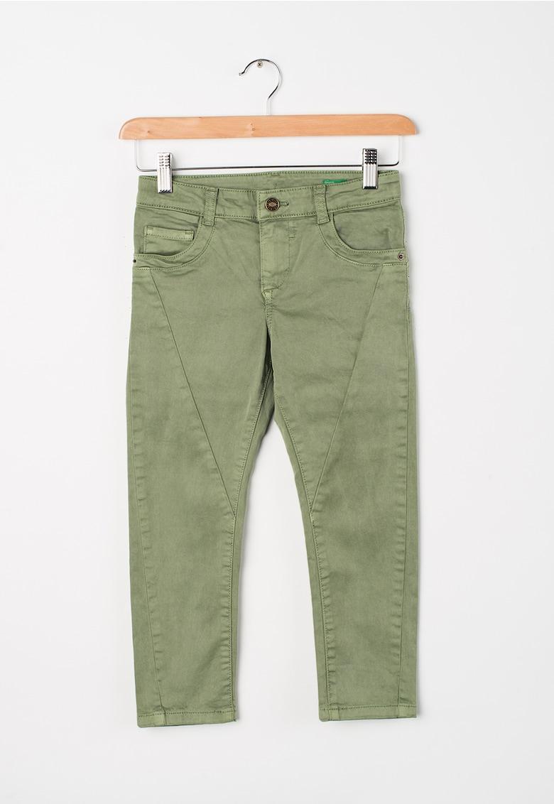 Jeansi elastici verde oliv imagine fashiondays.ro 2021
