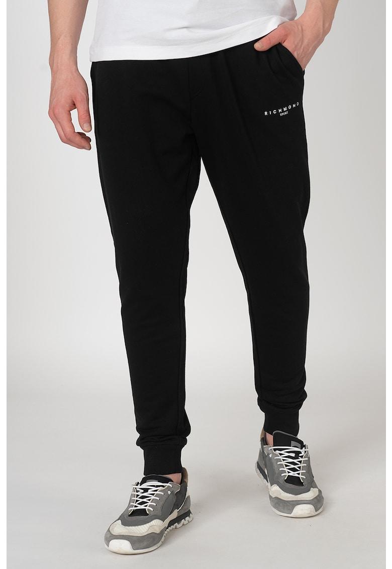 Pantaloni sport cu model logo Crowfordy
