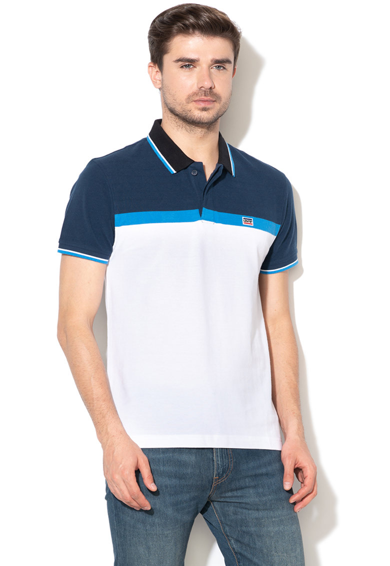 Levis Tricou polo din material pique cu model colorblock